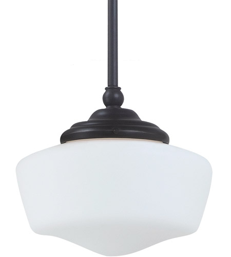 Sea Gull Lighting Academy Fluorescent 1 Light Pendant in Heirloom Bronze 65436BLE-782