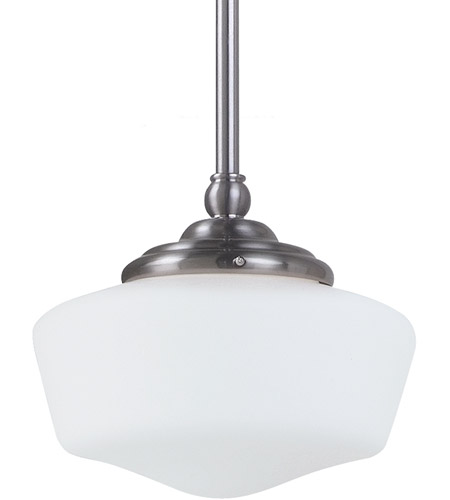 Sea Gull Lighting Academy Fluorescent 1 Light Pendant in Brushed Nickel 65436BLE-962