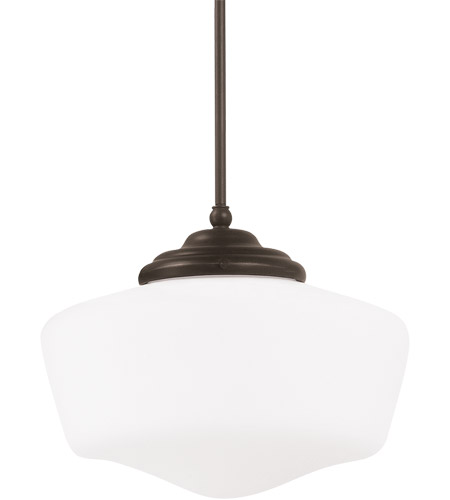 Sea Gull 65437-782 Academy 1 Light 12 inch Heirloom Bronze Pendant Ceiling Light in Standard photo