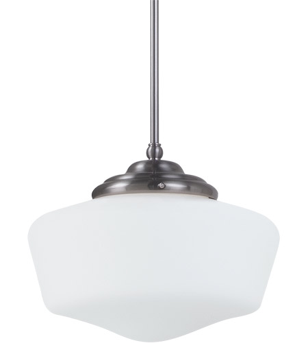Sea Gull Lighting Academy 1 Light Pendant in Brushed Nickel 65437-962