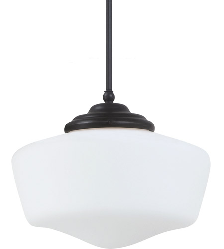 Sea Gull Lighting Academy Fluorescent 1 Light Pendant in Heirloom Bronze 65437BLE-782