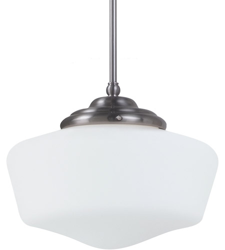 Sea Gull Lighting Academy Fluorescent 1 Light Pendant in Brushed Nickel 65437BLE-962