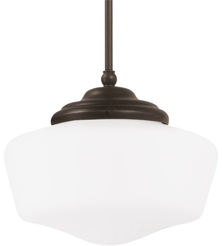 Sea Gull Lighting Academy 1 Light Pendant in Heirloom Bronze 65438-782 photo