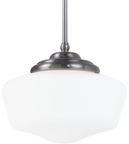 Sea Gull Lighting Academy 1 Light Pendant in Brushed Nickel 65438-962