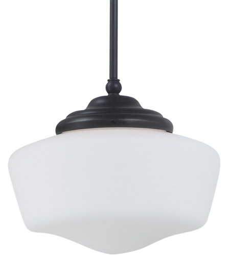 Sea Gull Lighting Academy Fluorescent 1 Light Pendant in Heirloom Bronze 65438BLE-782