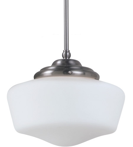 Sea Gull Lighting Academy Fluorescent 1 Light Pendant in Brushed Nickel 65438BLE-962