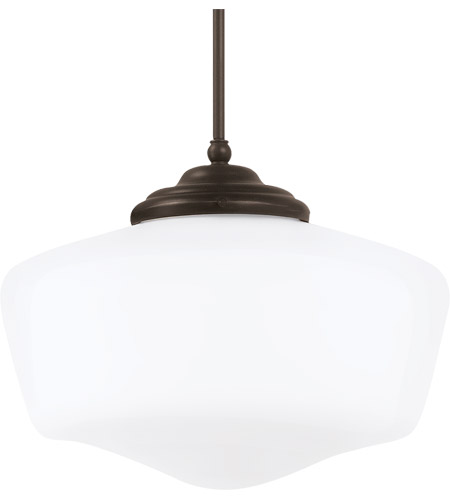 Sea Gull 65439-782 Academy 1 Light 17 inch Heirloom Bronze Pendant Ceiling Light in Standard photo