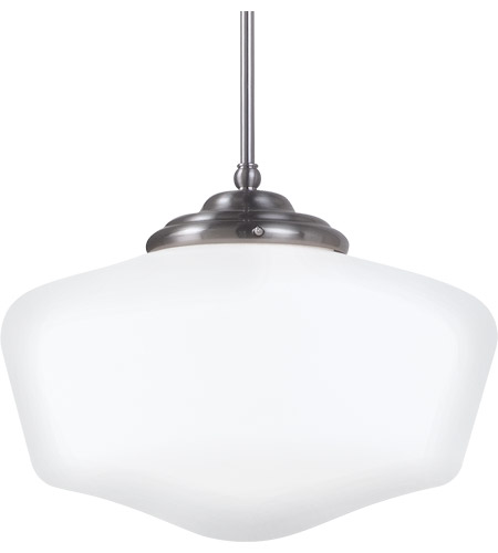 Sea Gull Lighting Academy 1 Light Pendant in Brushed Nickel 65439-962