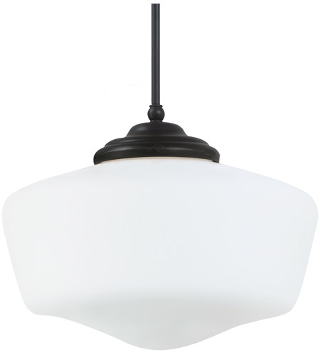 Sea Gull Lighting Academy Fluorescent 1 Light Pendant in Heirloom Bronze 65439BLE-782