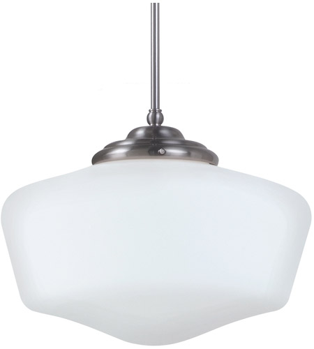 Sea Gull Lighting Academy Fluorescent 1 Light Pendant in Brushed Nickel 65439BLE-962