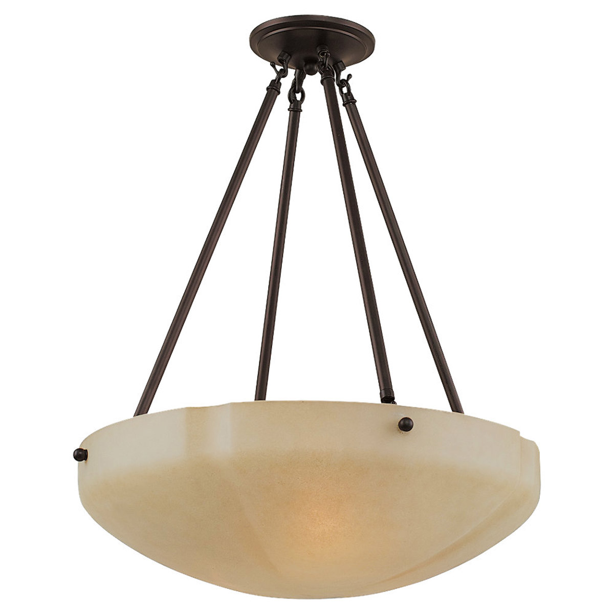 Sea Gull Lighting Century 3 Light Pendant in Heirloom Bronze 65474-782 photo