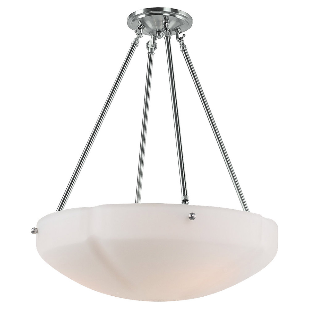 Sea Gull Lighting Century 3 Light Pendant in Brushed Nickel 65474-962