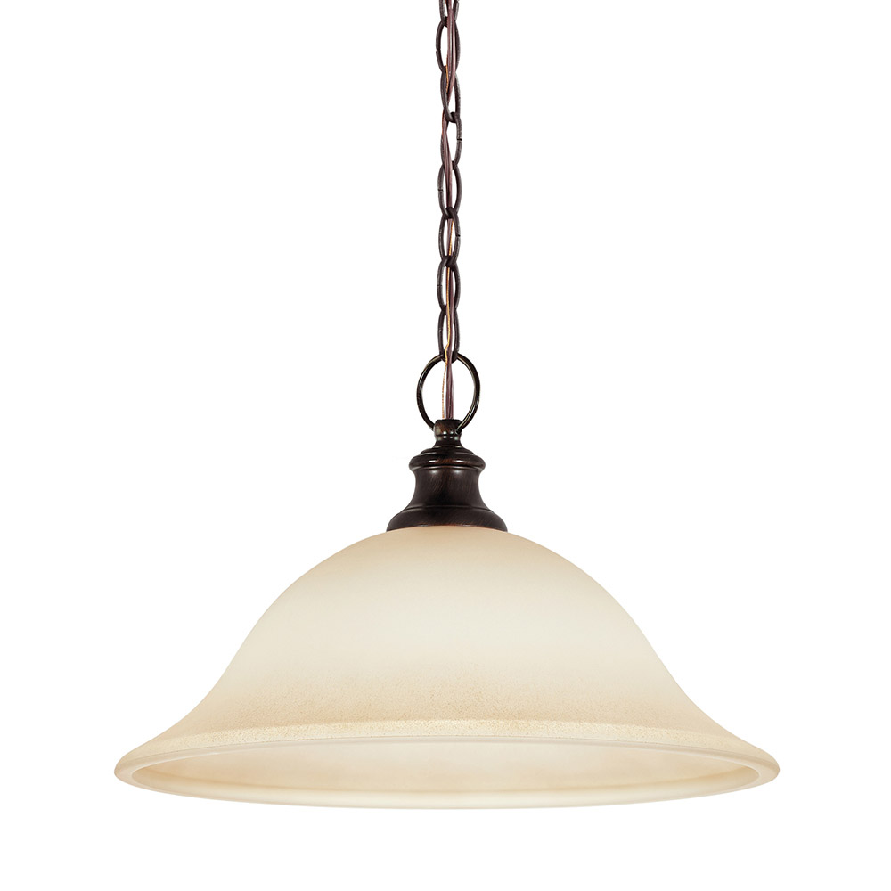 Sea Gull 65496-710 Park West 1 Light 16 inch Burnt Sienna Pendant Ceiling Light in Standard photo