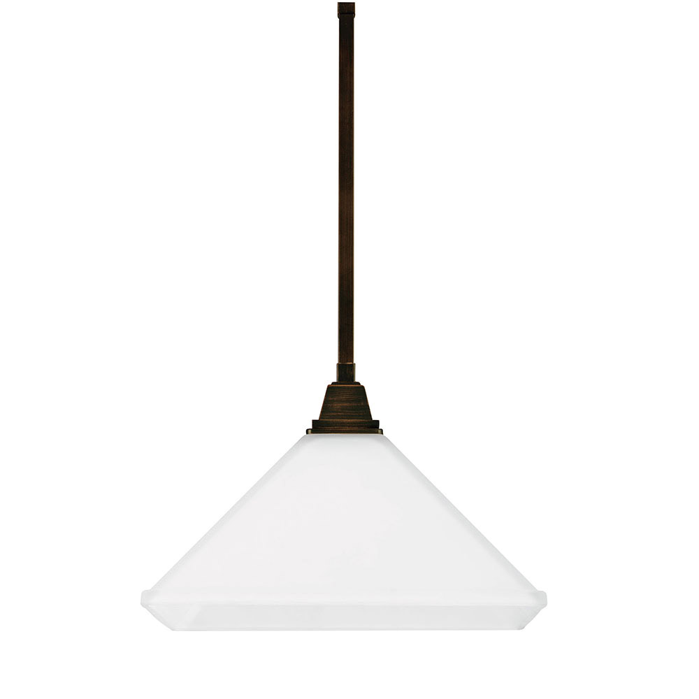 Sea Gull 6550401-710 Denhelm 1 Light 13 inch Burnt Sienna Pendant Ceiling Light in Standard photo