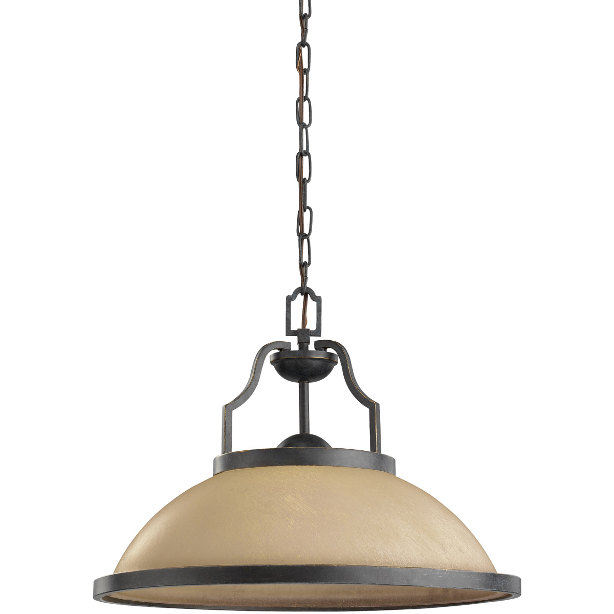 Sea Gull Roslyn 1 Light Pendant in Flemish Bronze 65520BLE-845