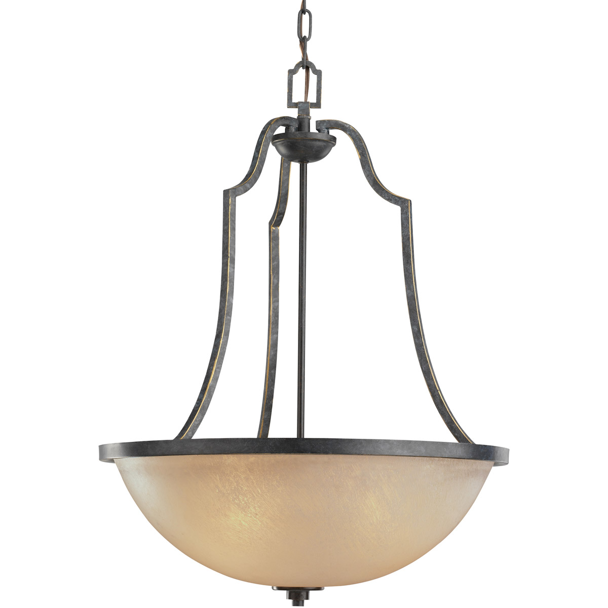 Sea Gull Lighting Roslyn 3 Light Chandelier in Flemish Bronze 65521-845 photo
