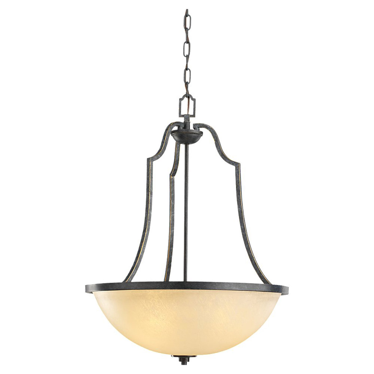 Sea Gull Roslyn 3 Light Pendant in Flemish Bronze 65521BLE-845
