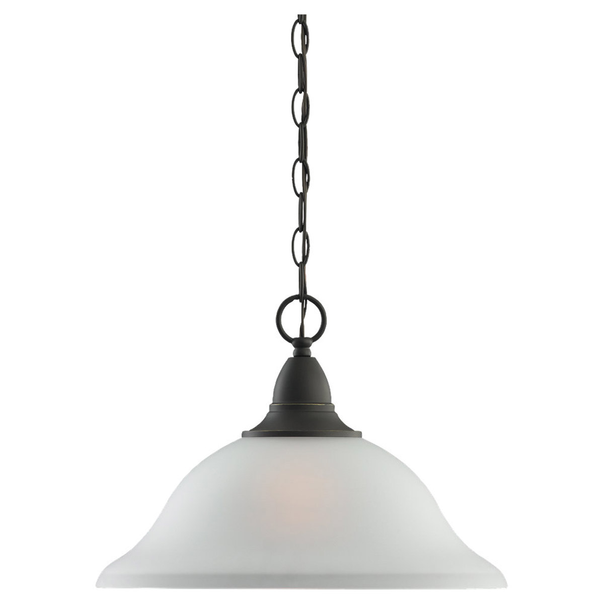 Sea Gull Lighting Albany 1 Light Pendant in Heirloom Bronze 65575-782