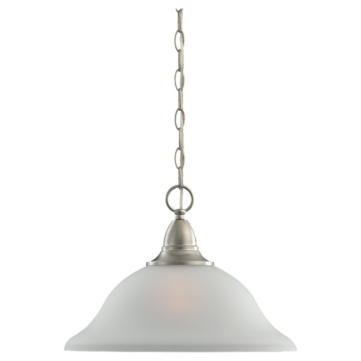 Sea Gull Lighting Albany 1 Light Pendant in Brushed Nickel 65575-962
