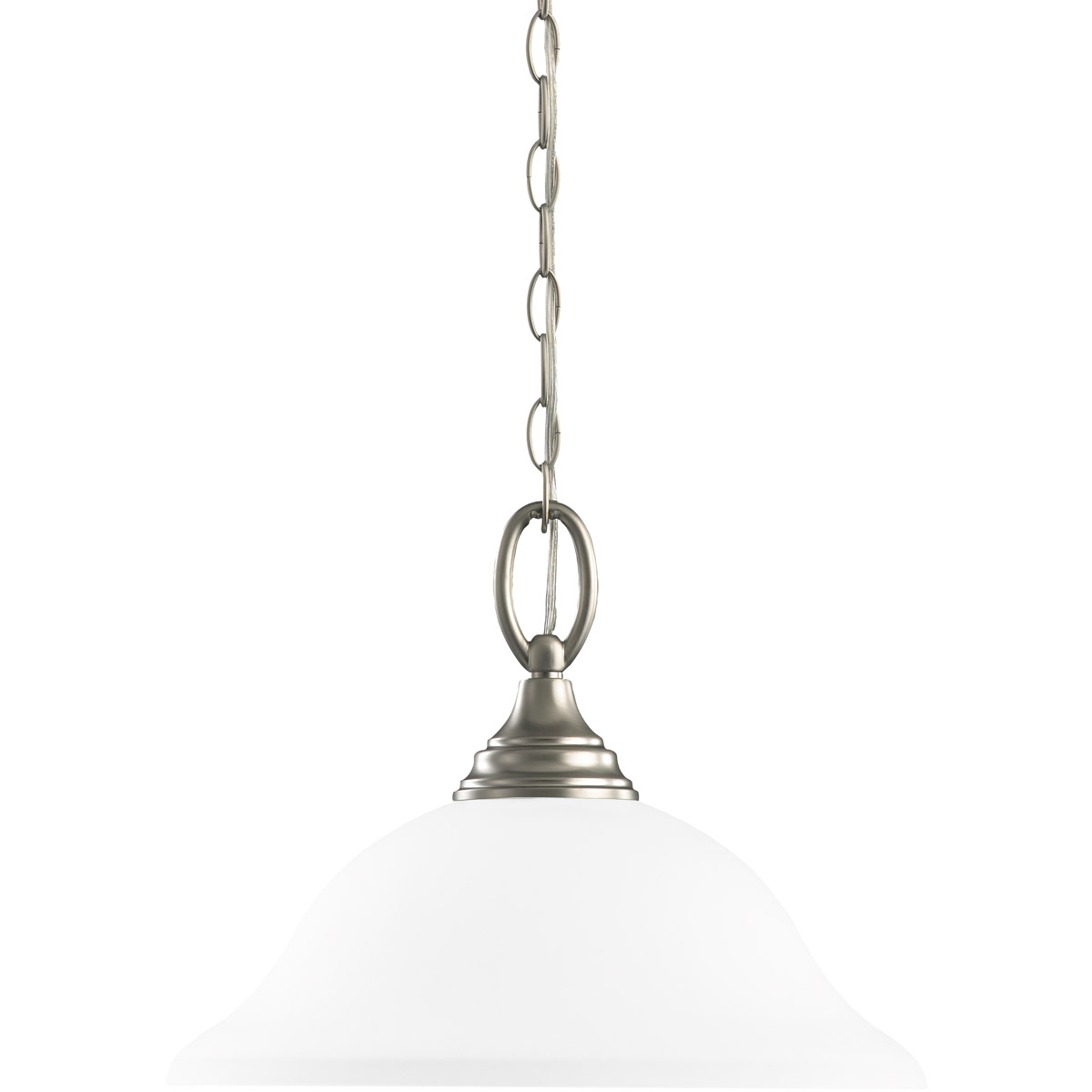 Sea Gull Lighting Wheaton 1 Light Pendant Down Light in Brushed Nickel 65625-962
