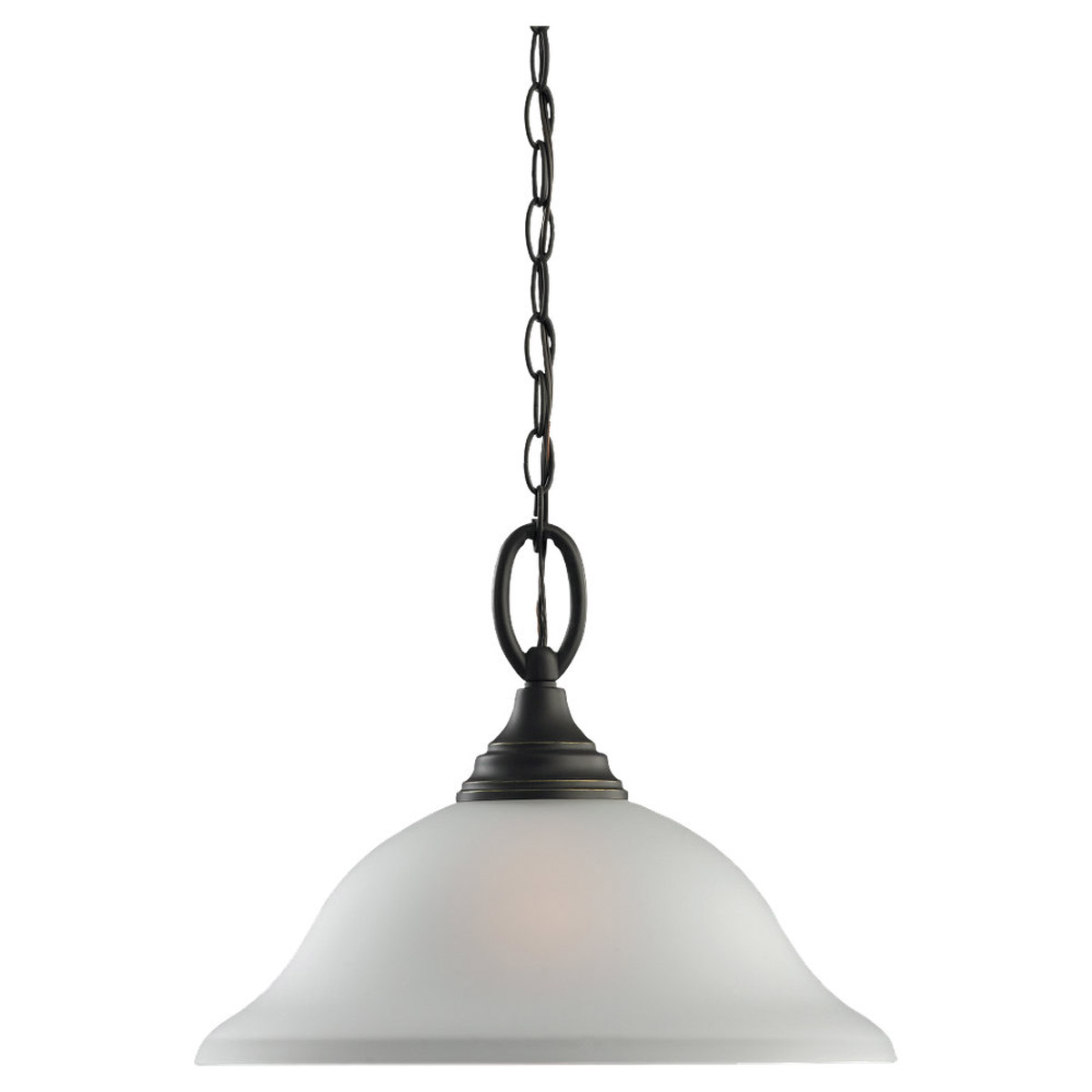 Sea Gull 65625BLE-782 Wheaton 1 Light 15 inch Heirloom Bronze Pendant Ceiling Light in Fluorescent photo