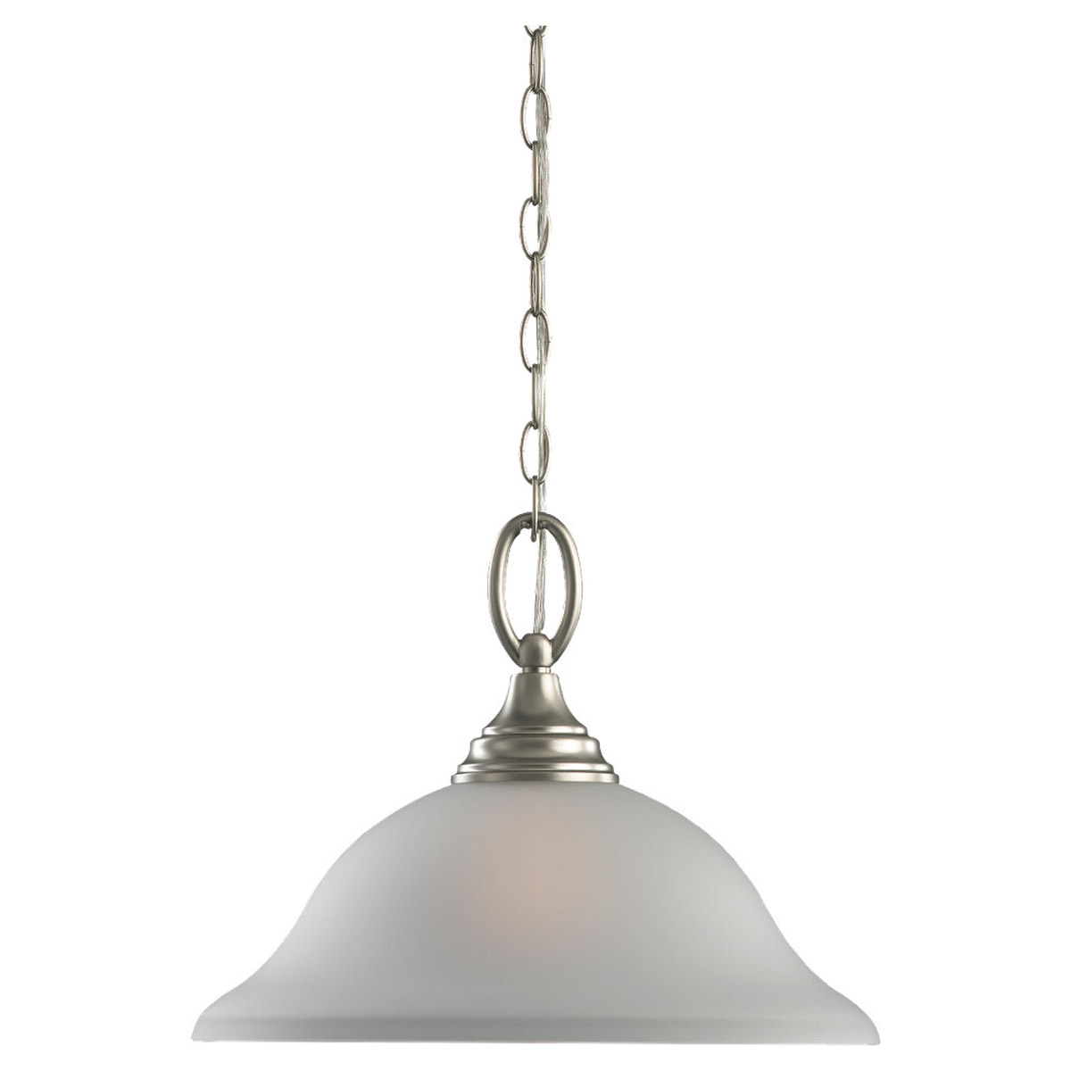 Sea Gull Lighting Wheaton 1 Light Pendant Down Light in Brushed Nickel 65625BLE-962