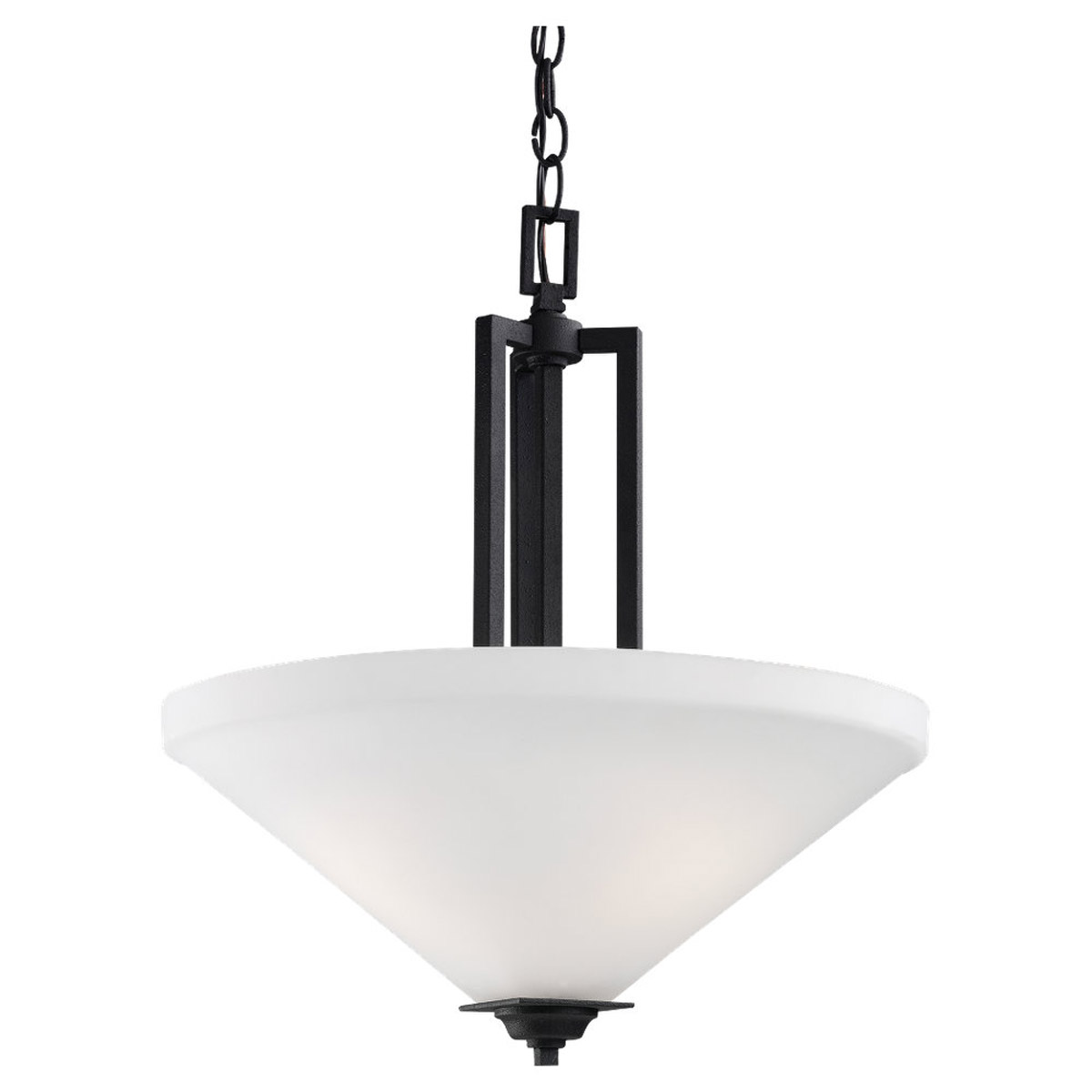 Sea Gull Lighting Cardwell 3 Light Pendant in Blacksmith 65631-839 photo