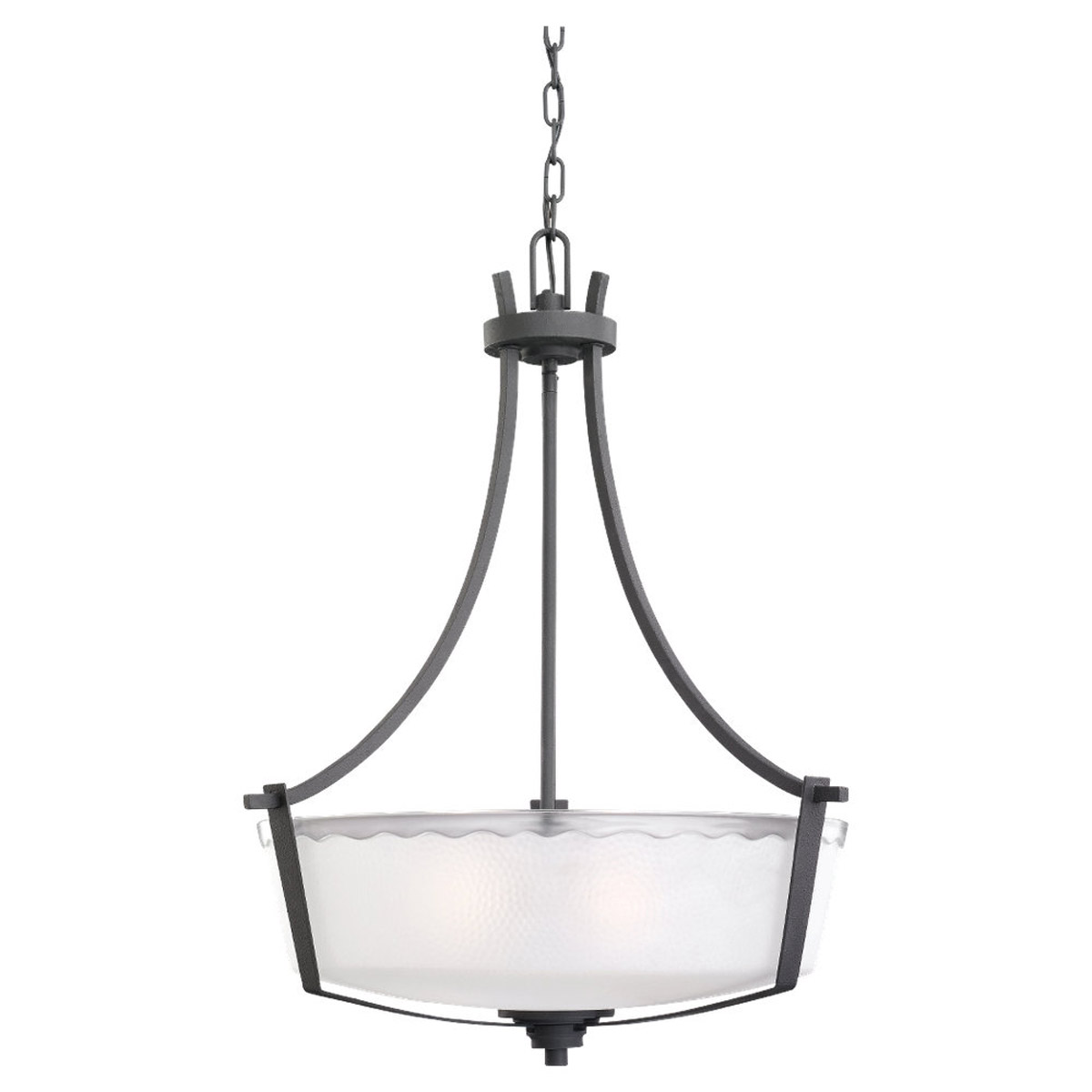 Sea Gull Lighting 59th Street 3 Light Pendant in Blacksmith 65641-839 photo