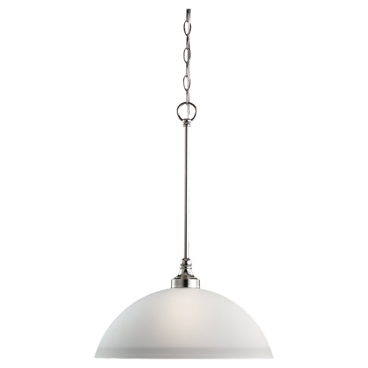 Sea Gull Lighting Wellington 1 Light Pendant in Polished Nickel 65655-841 photo