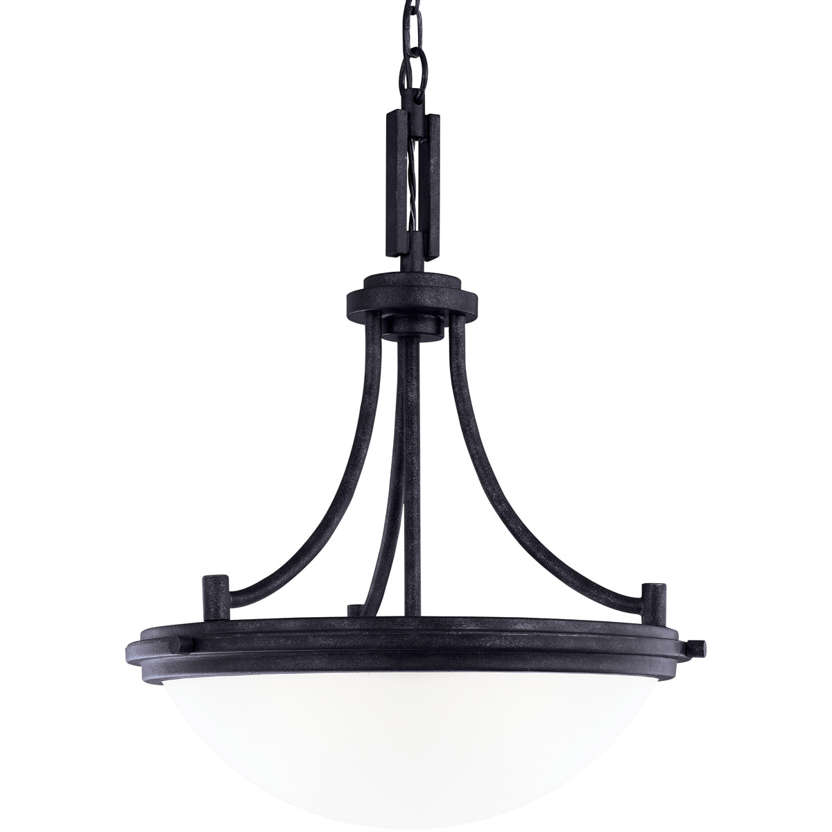 Sea Gull Winnetka 3 Light Pendant in Blacksmith 65661BLE-839