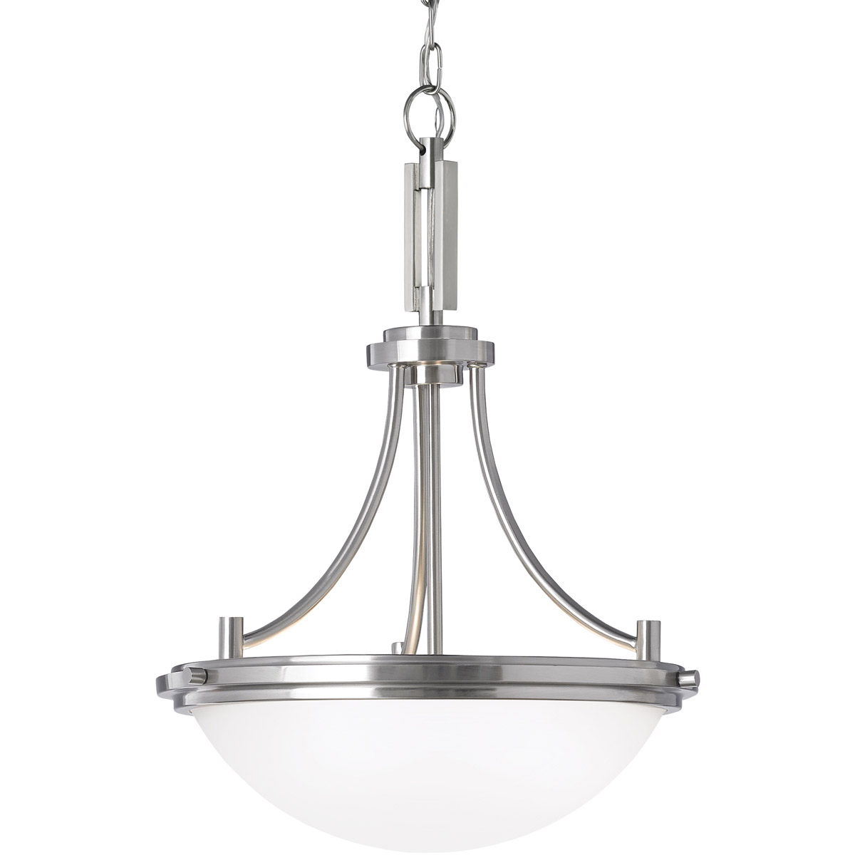 Sea Gull Winnetka 3 Light Pendant in Brushed Nickel 65661-962