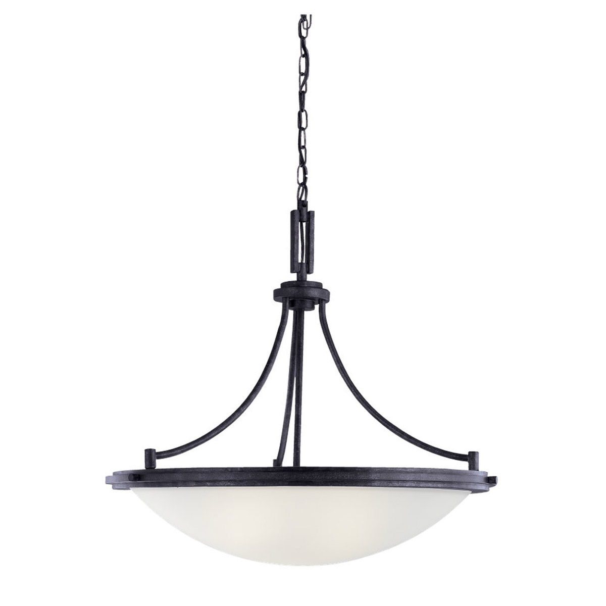 Sea Gull 65662BLE-839 Winnetka 4 Light 28 inch Blacksmith Pendant Ceiling Light in Fluorescent photo