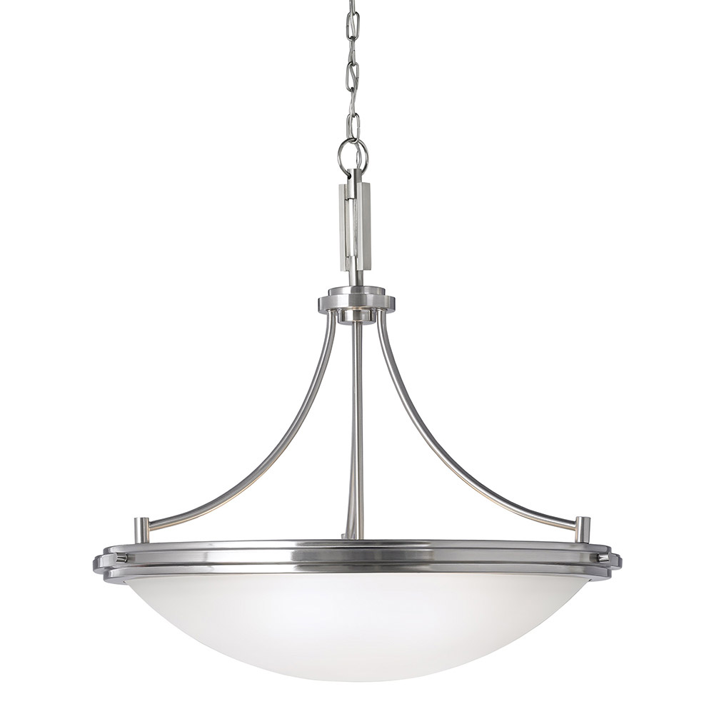 Sea Gull Winnetka 4 Light Pendant in Brushed Nickel 65662BLE-962