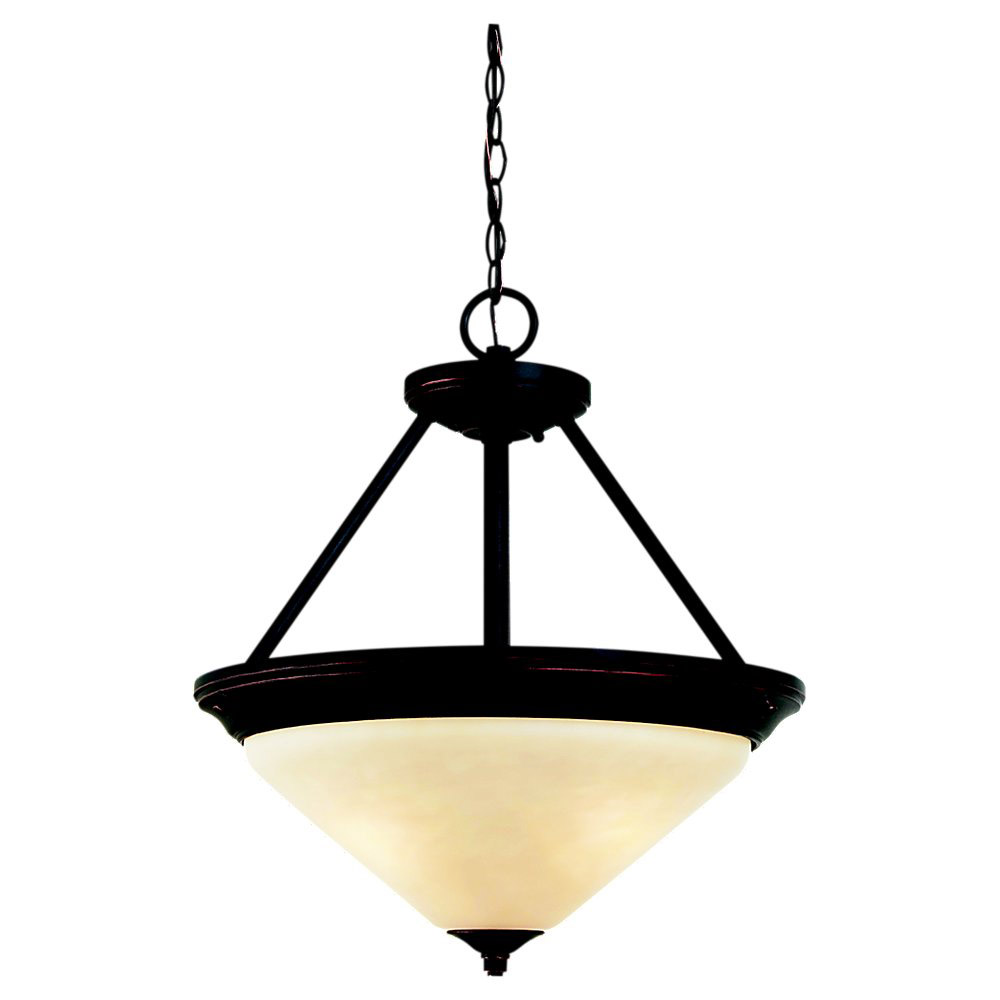 Sea Gull Lighting Belair 3 Light Pendant in Vintage Brown 65791-862 photo