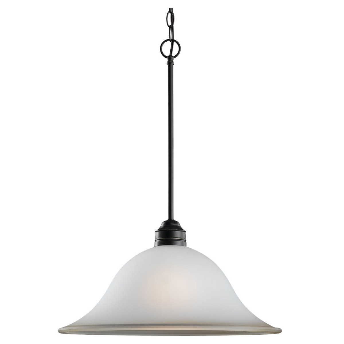 Sea Gull 65850-782 Gladstone 1 Light 18 inch Heirloom Bronze Pendant Ceiling Light in Smokey Amber Glass, Standard photo