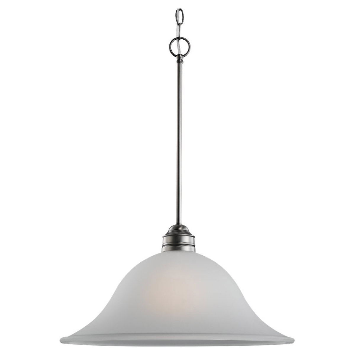 Sea Gull 65850-965 Gladstone 1 Light 18 inch Antique Brushed Nickel Pendant Ceiling Light in Satin Etched Glass, Standard photo