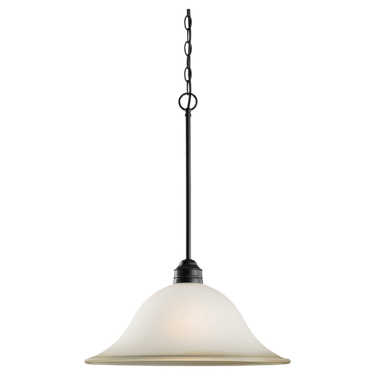 Sea Gull 65850BLE-782 Gladstone 1 Light 18 inch Heirloom Bronze Pendant Ceiling Light in Smokey Amber Glass, Fluorescent photo