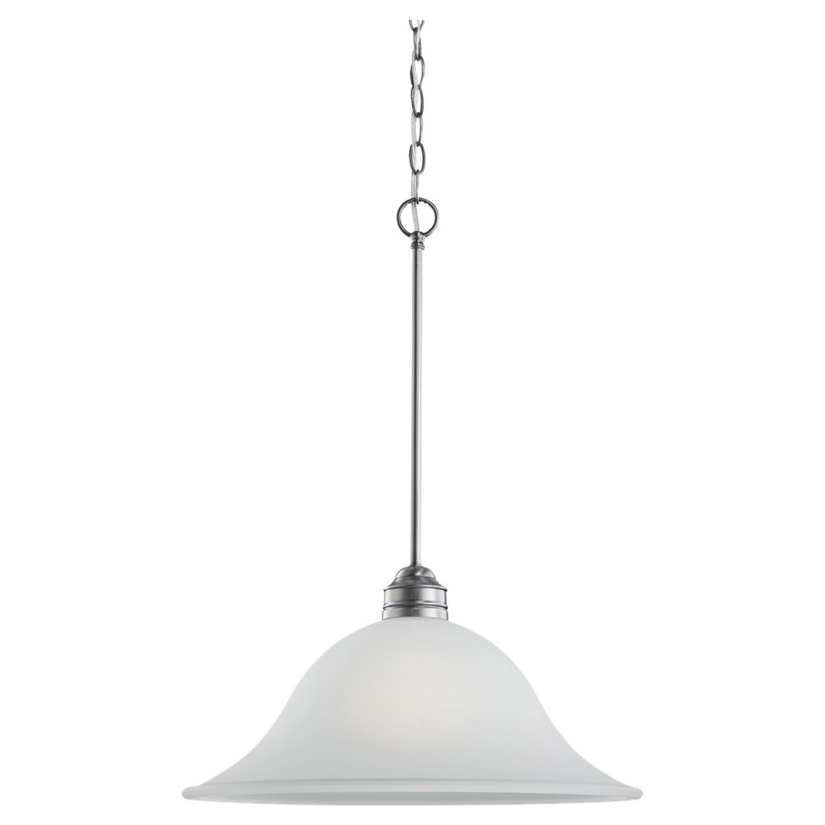 Sea Gull 65850BLE-965 Gladstone 1 Light 18 inch Antique Brushed Nickel Pendant Ceiling Light in Satin Etched Glass, Fluorescent photo