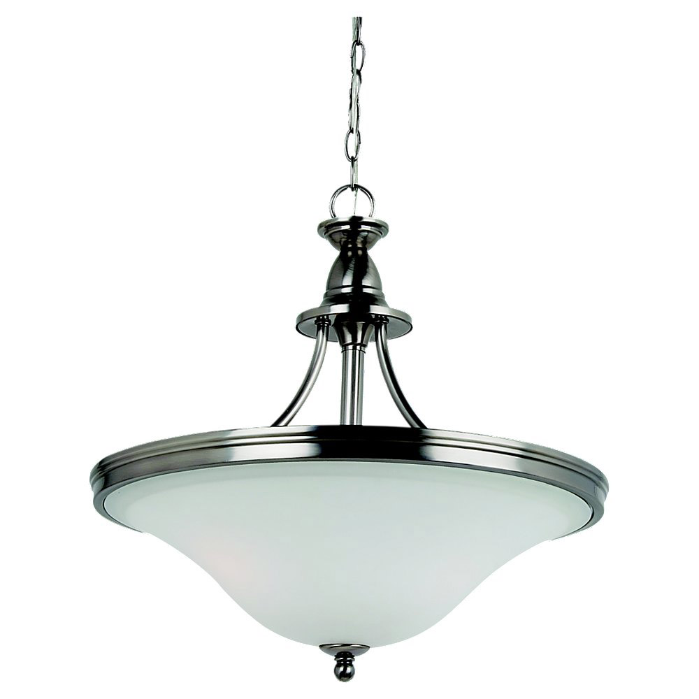Sea Gull Lighting Gladstone 3 Light Pendant Up Light in Antique Brushed Nickel 65851-965 photo