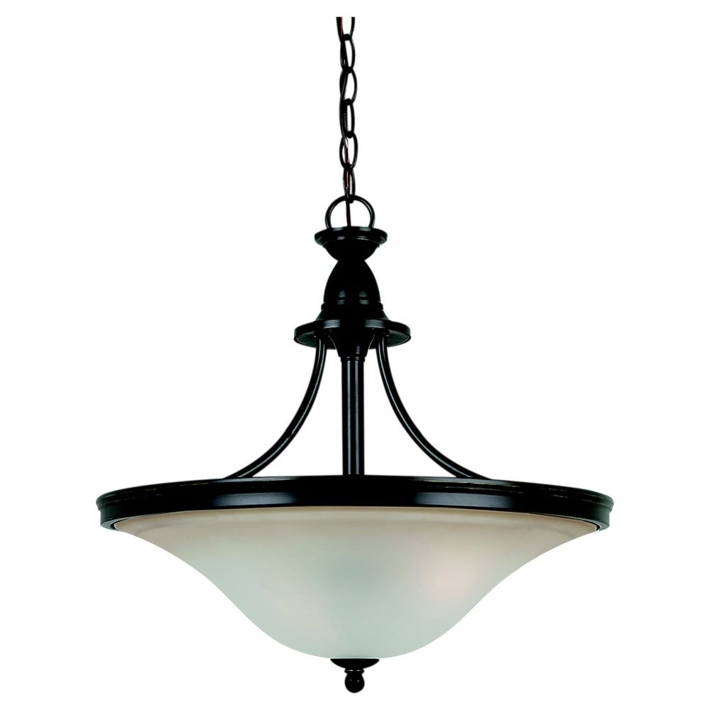 Sea Gull Lighting Gladstone 3 Light Pendant in Heirloom Bronze 65851BLE-782