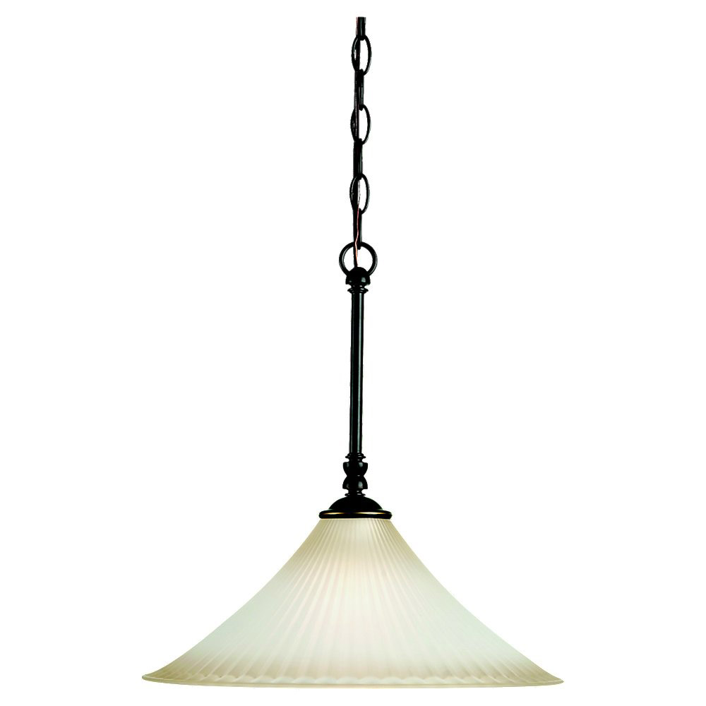 Sea Gull Lighting Joliet 1 Light Pendant in Heirloom Bronze 65935-782
