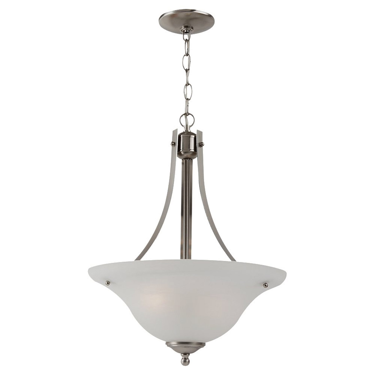 Sea Gull Lighting Windgate 2 Light Pendant in Brushed Nickel 65941BLE-962