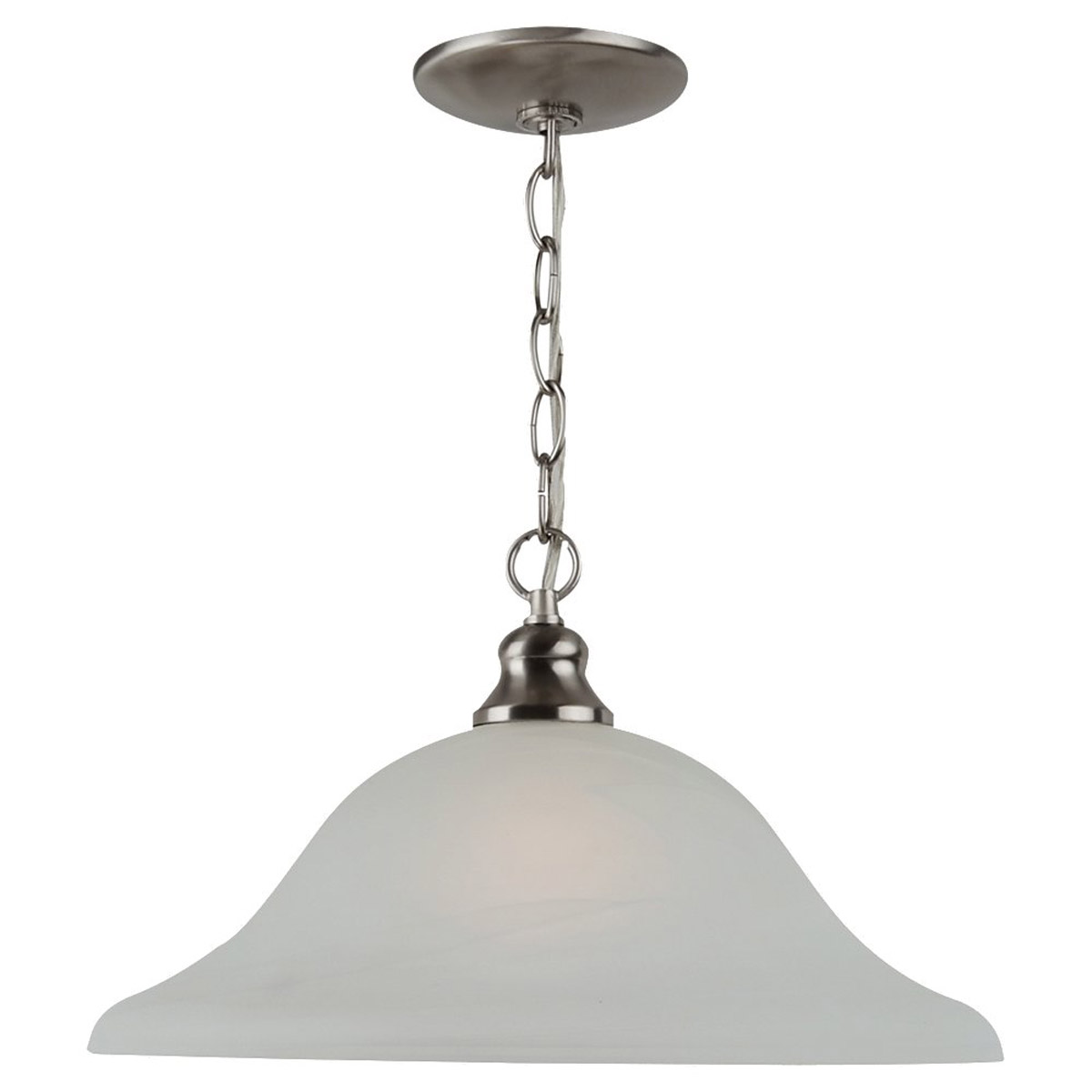 Sea Gull Lighting Windgate 1 Light Pendant in Brushed Nickel 65942-962