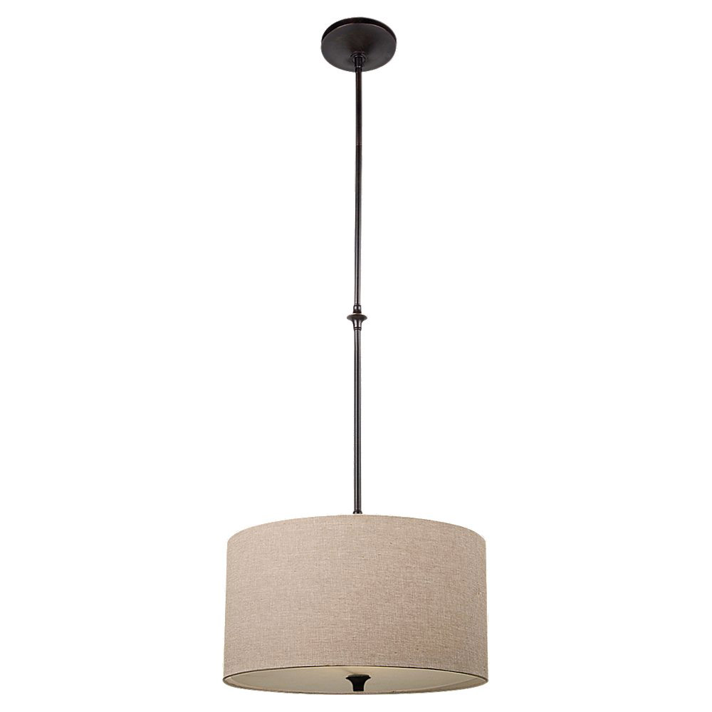 Sea Gull 65952-710 Stirling 1 Light 16 inch Burnt Sienna Pendant Ceiling Light in Beige Linen Fabric photo