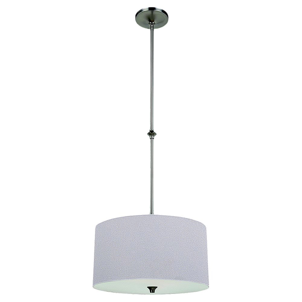 Brushed Nickel Steel Stirling Pendants