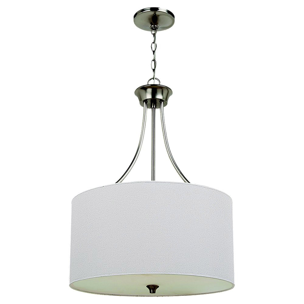Sea Gull Lighting Stirling 3 Light Pendant in Brushed Nickel 65953-962