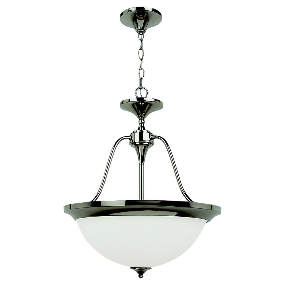 Sea Gull Lighting Solana 3 Light Pendant in Polished Nickel 65972BLE-841