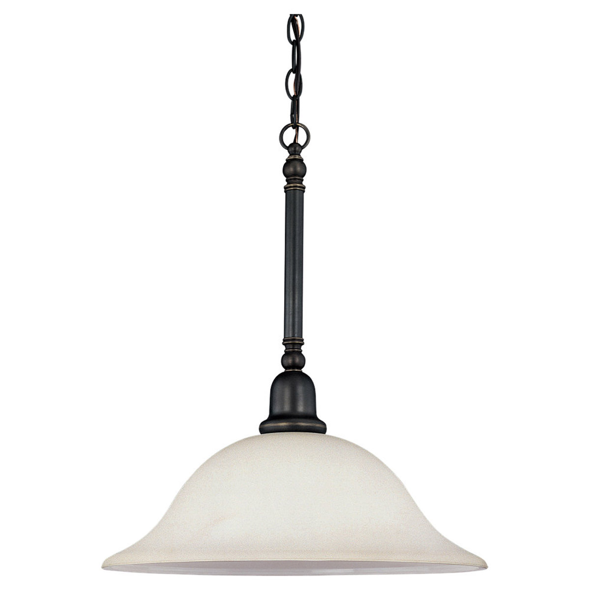 Sea Gull 66060-782 Sussex 1 Light 16 inch Heirloom Bronze Pendant Ceiling Light in Satin Etched Glass photo