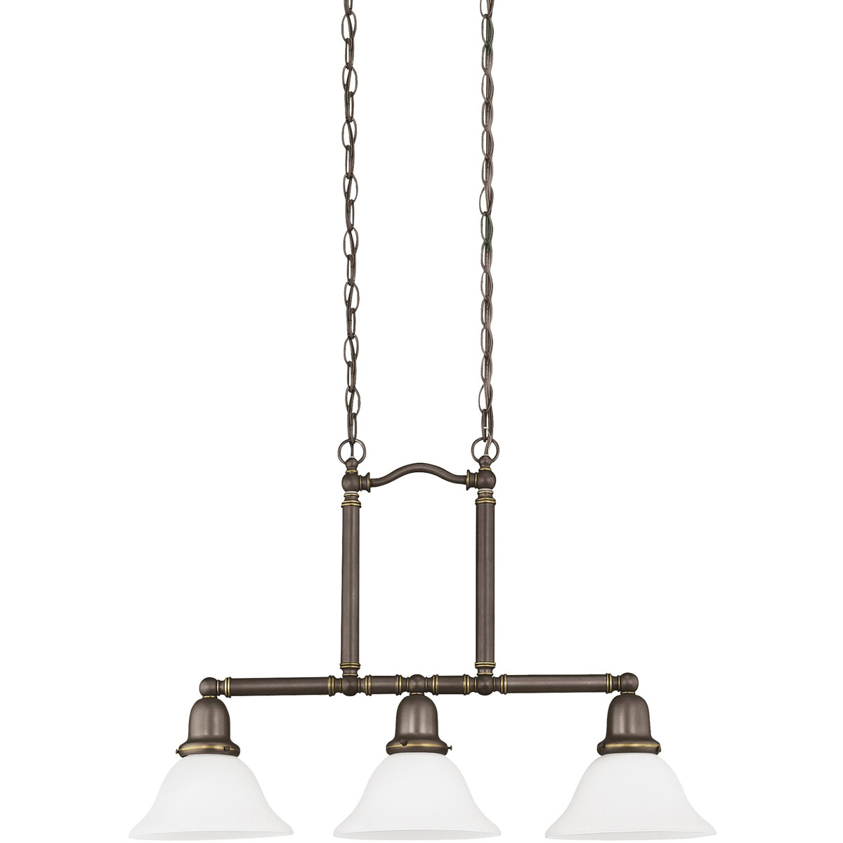 Sea Gull Lighting Sussex 3 Light Pendant in Heirloom Bronze 66061-782