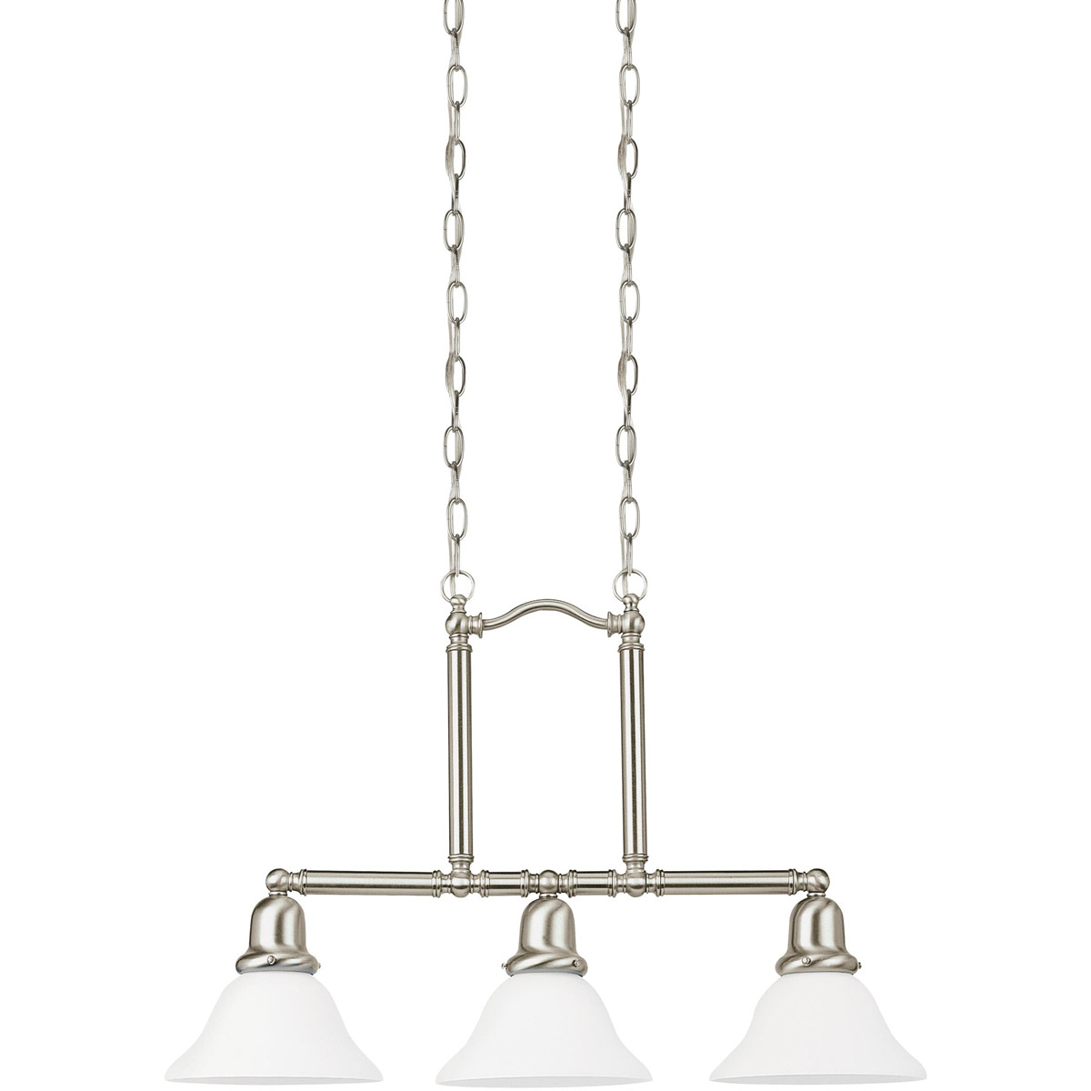 Sea Gull Lighting Sussex 3 Light Pendant in Brushed Nickel 66061-962